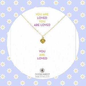 Dogeared YOU ARE LOVED 14k Gold Pendant.